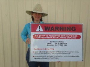 Protecting interests with a Weed Warning Sign